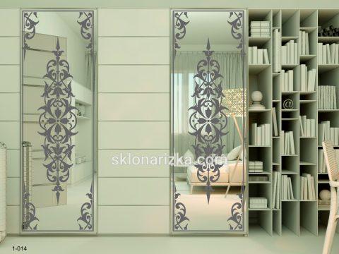 Орнамент на дзеркалі в шафі-купе
