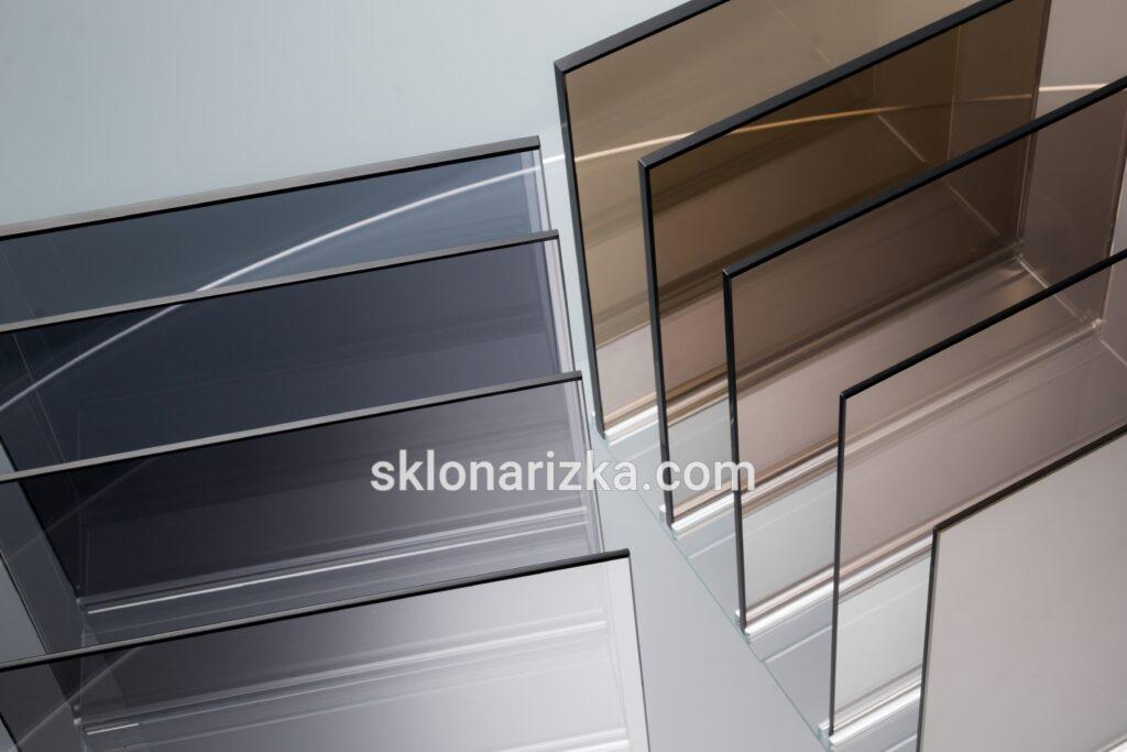 Скло тоноване бронза і графіт_ 4 мм, 6 мм, 8 мм, 10 мм з нарізкою та обробкою у Львові_