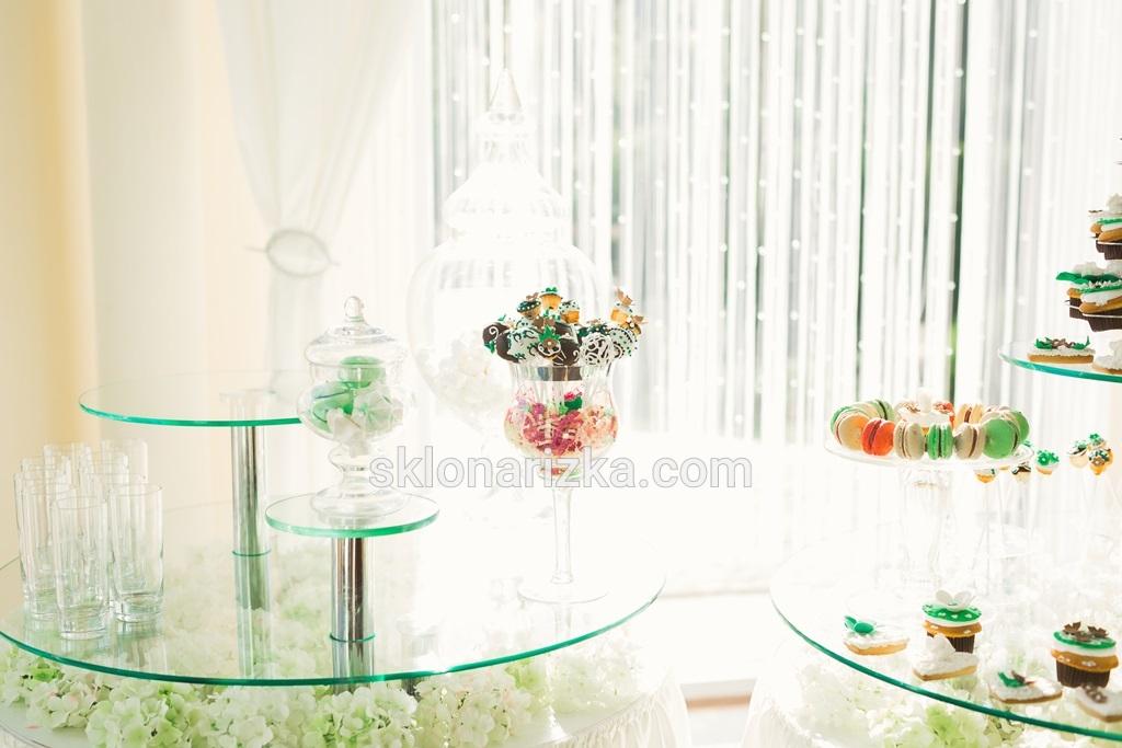 Скляні круглі декорації