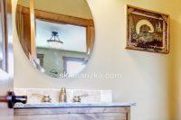Кругле дзеркало з широким фацетом під замовлення