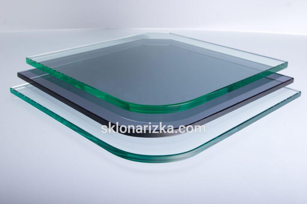 Криволінійне полірування кромки на притупленнях кутів скляних деталей різних товщин_