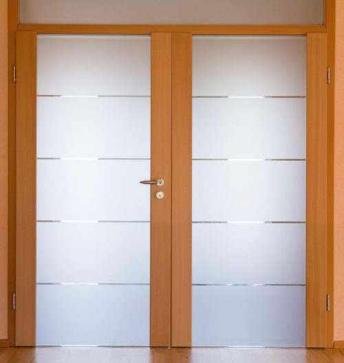 Матове скло сатин у двері