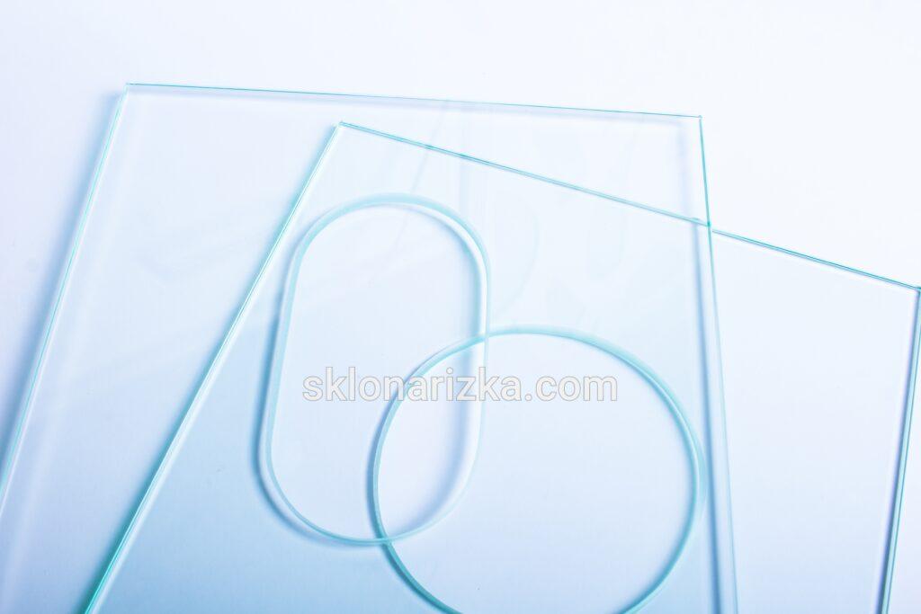Овальний і круглий внутрішній виріз у склі для скляного фартуха (скіналі на кухню)_