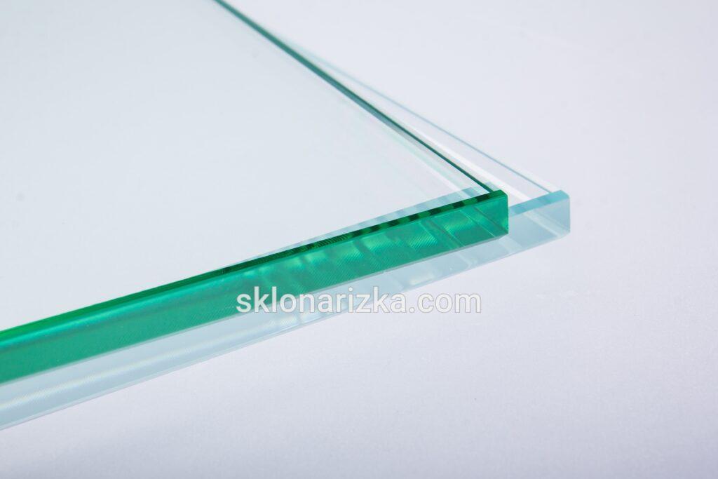 Полірування кромки вітринного скла 10 мм та ультрапрозорого скла 10 мм