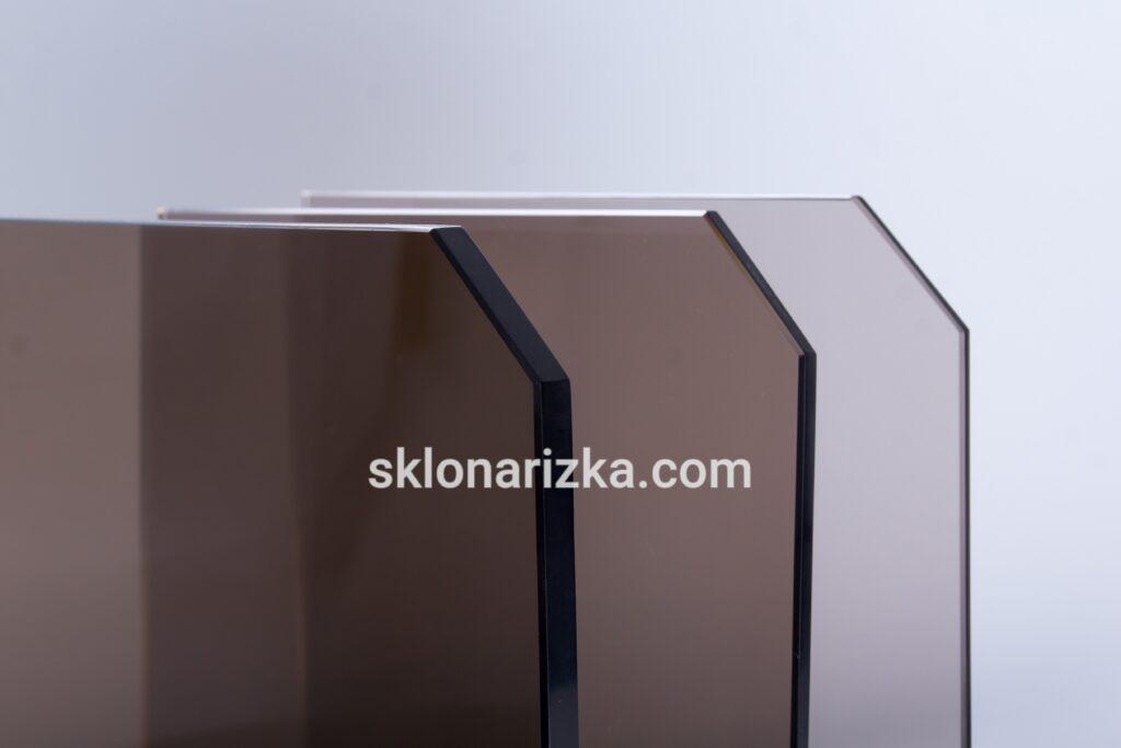 Притуплення кутів по діагоналі на тонованому склі 4 мм, 6 мм та 10 мм_