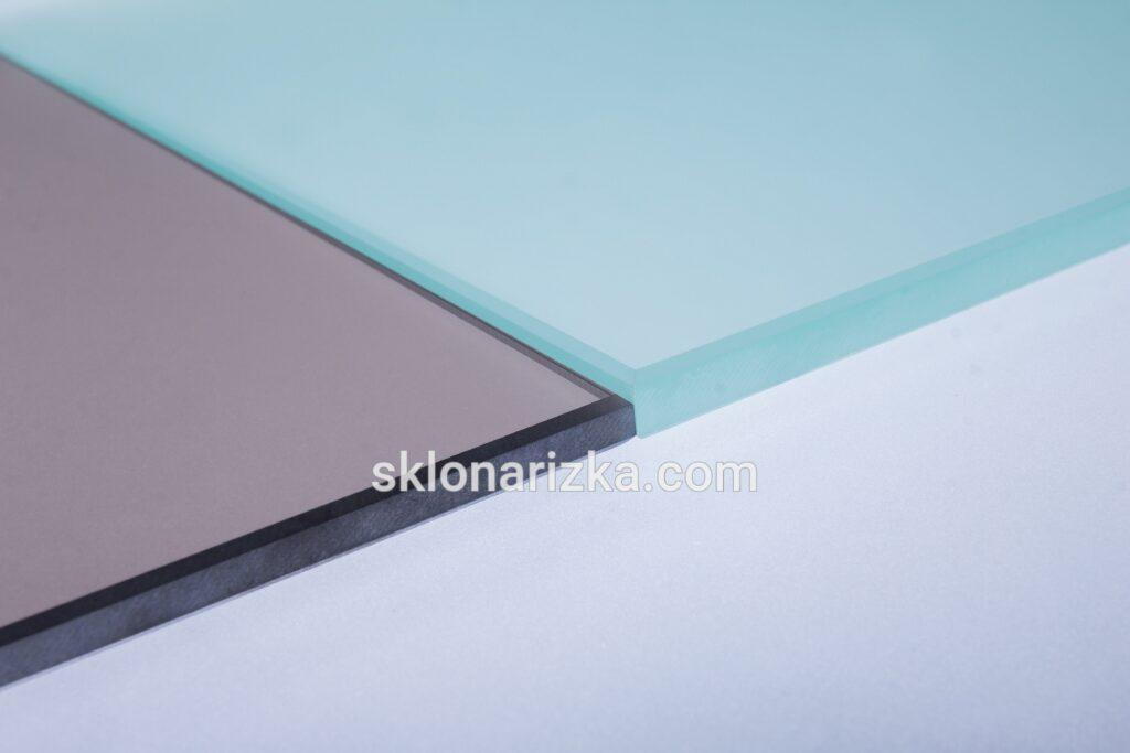 Шліфування кромки на матованому та тонованому склі різних товщин_