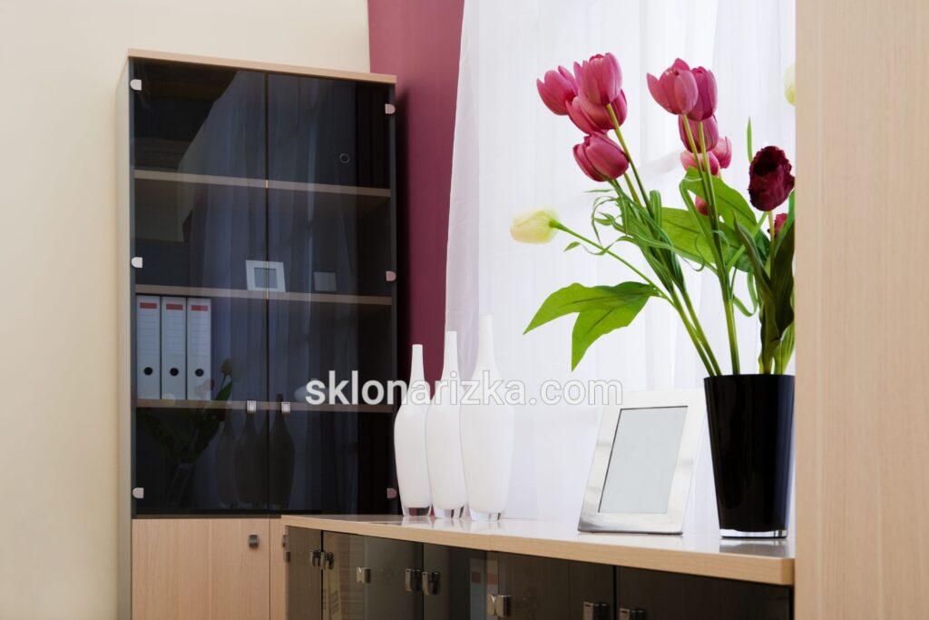 Тонвоване скло (бронза 4 мм) для офісу
