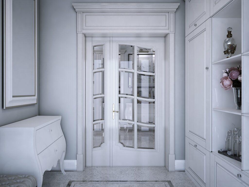 Віконне скло з криволінійним фацетом у двері
